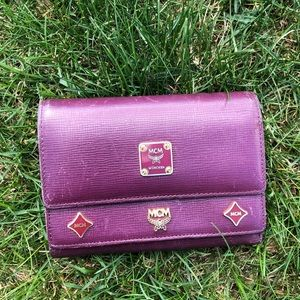 Vintage MCM multi fold wallet